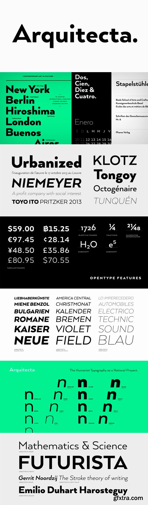 Arquitecta Font Family - 16 Fonts for $126