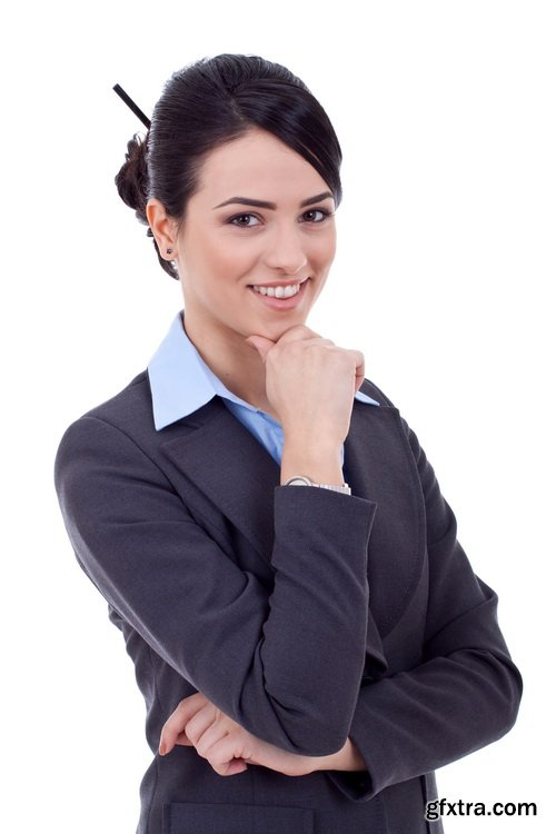 Amazing SS - Thinking business woman, 25xJPG