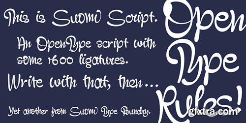 Suomi Script Font - 1 Font 80$