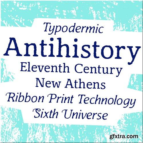 Antihistory Font Family - 2 Fonts 60$