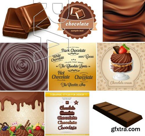 Stock Vectors - Chocolate 3, 25xEPS