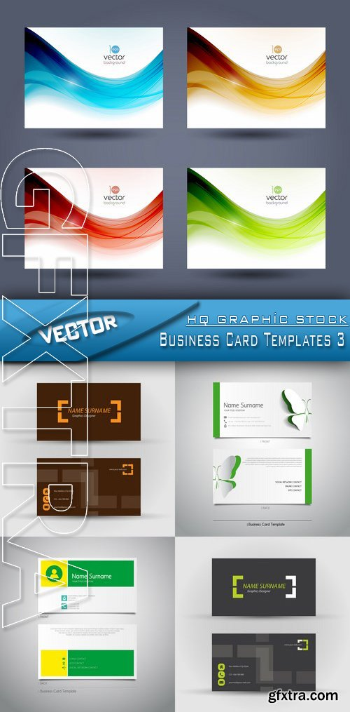 Stock Vector - Business Card Templates 3