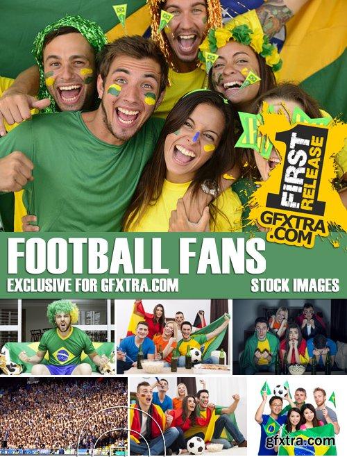 Stock Photos - Football fans, 25xJPG