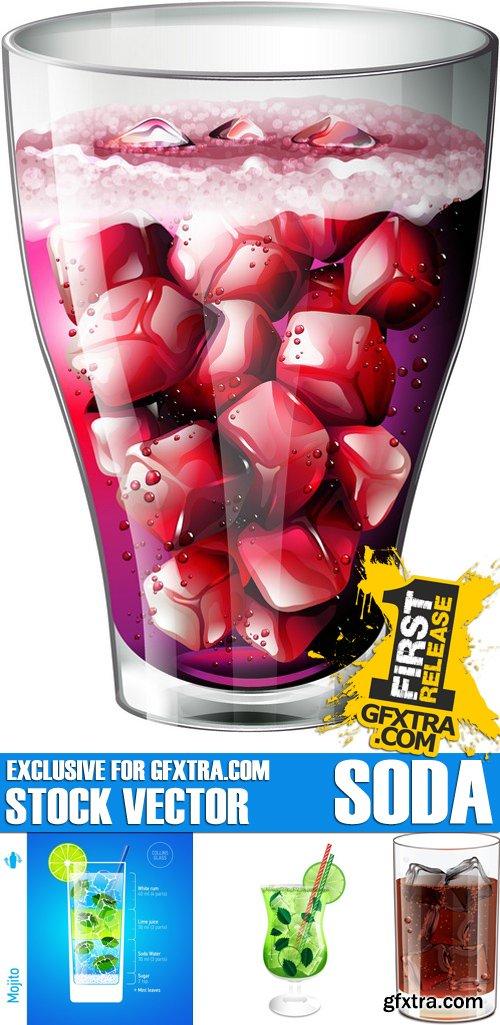 Stock Vectors - Soda, fizzy water, lemonade, 25xEPS