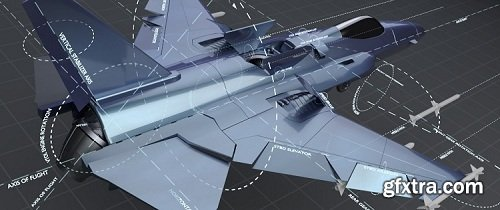 CGCookie - Mechanical Rigging of a Fighter Jet in Blender