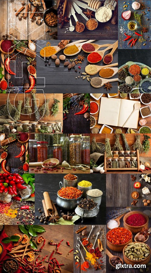 Spices Collection, 25xUHQ JPEG