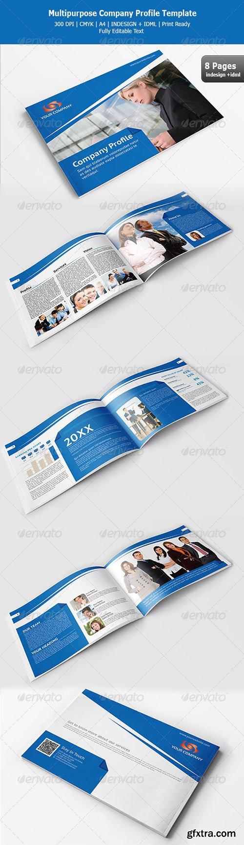 Graphicriver Multipurpose Company Profile Template Vector