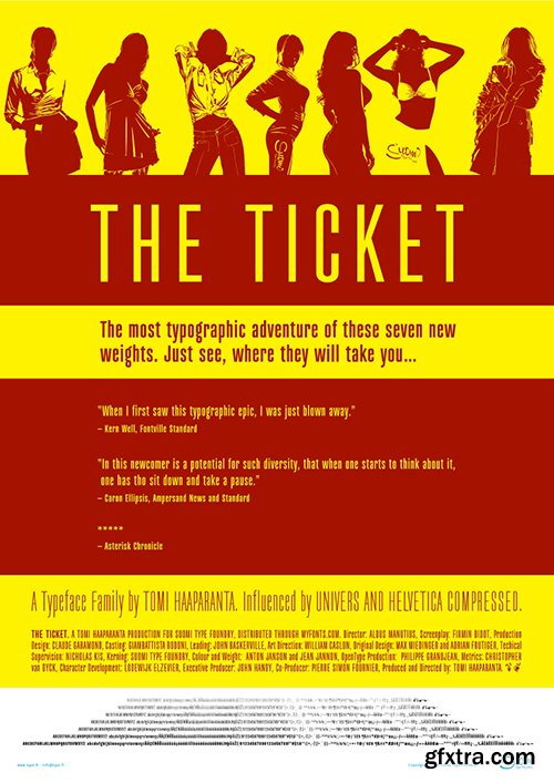 Ticketbook Font Family - 7 Fonts 140$