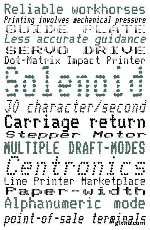 Telidon Ink Font Family - 18 Fonts 540$