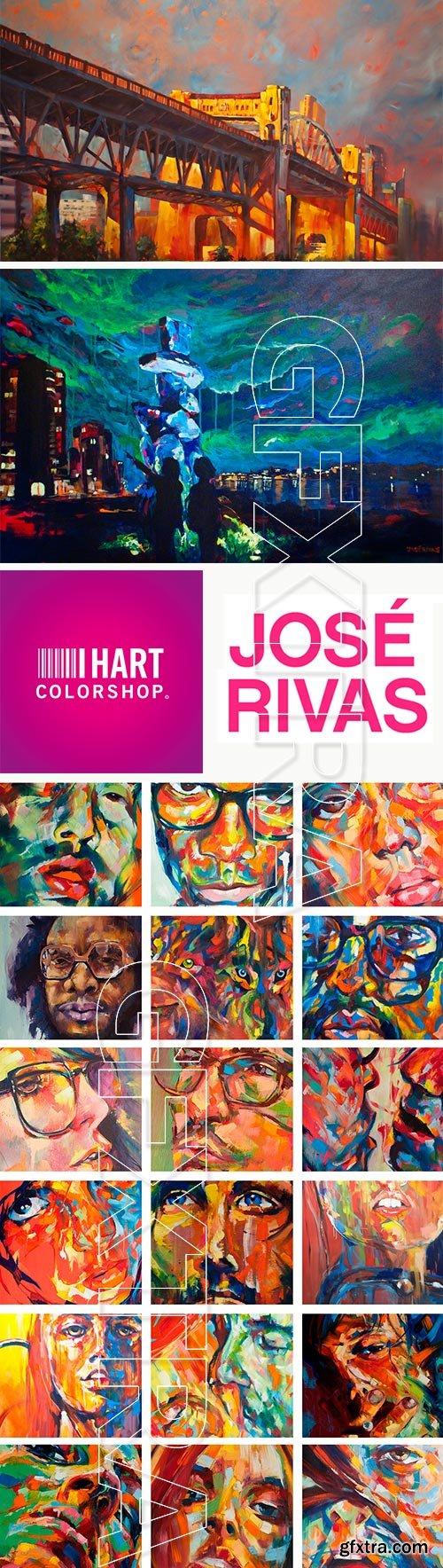 Jose Rivas, Spanish Paint Artist - I Hart Color Paintings
