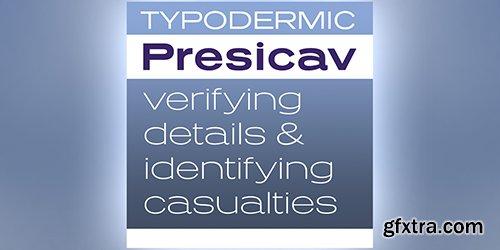 Presicav Font Family - 6 Fonts 180$