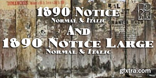 1890 Notice Font Family - 4 Fonts 120$