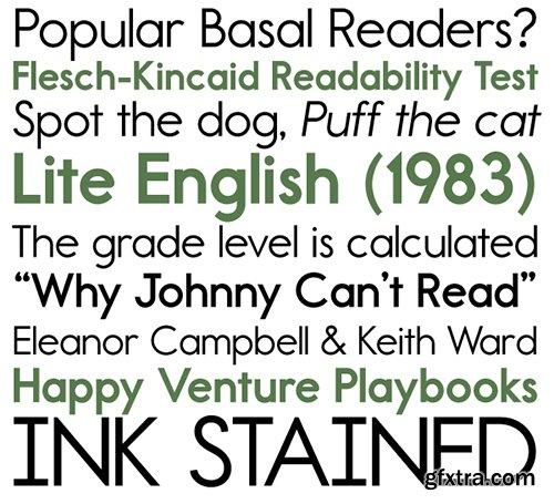 Report School Font Family - 6 Fonts 180$