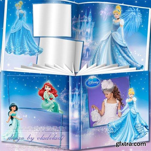 Cartoon Photobook for girls - Disney Princesses and fairytale castle