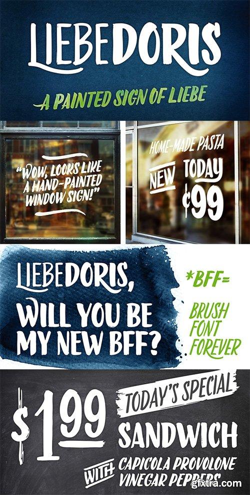 LiebeDoris Font Family - 4 Font $120