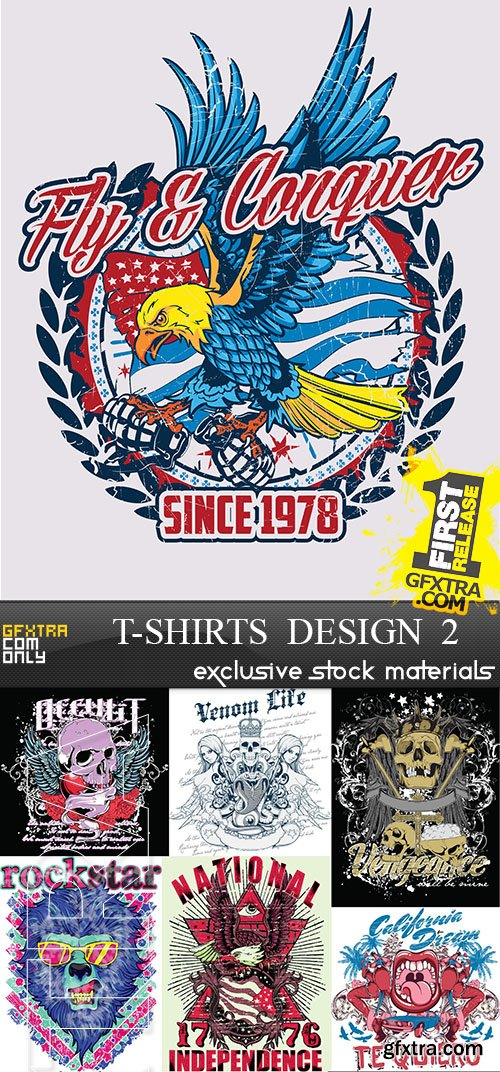 T-Shirts Design 2, 25xEPS