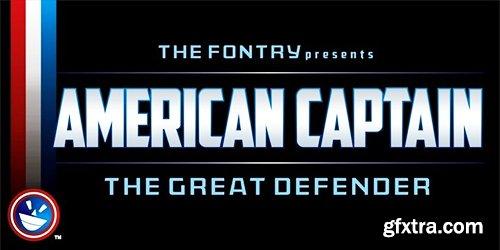 American Captain Font Family - 6 Font $150
