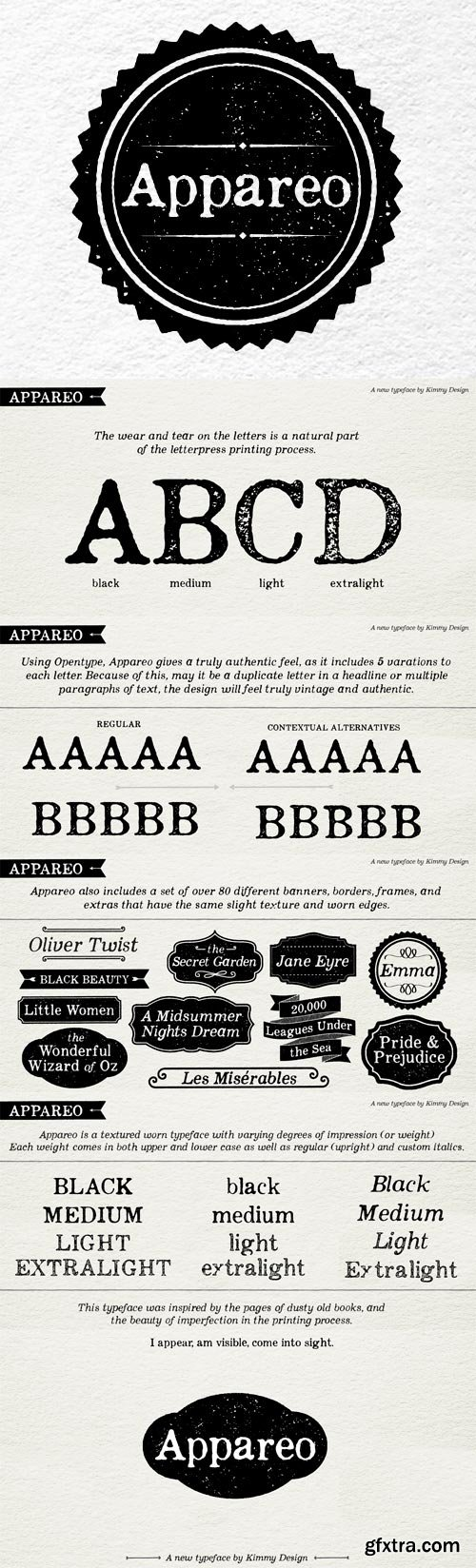 Appareo Font Family - 9 Fonts for $70