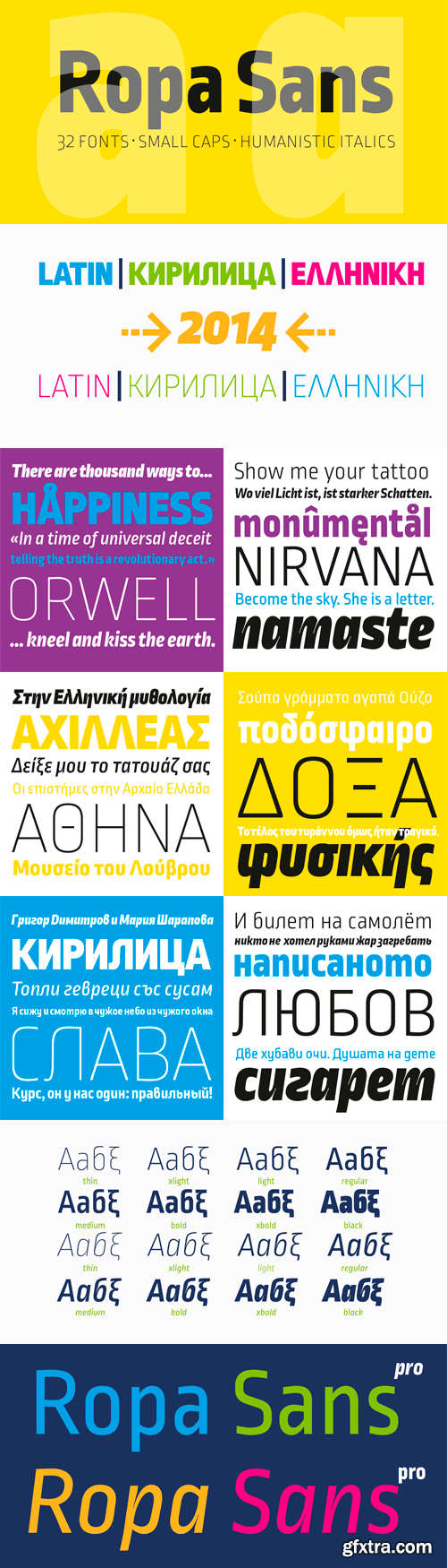 Ropa Sans Pro Font Family - 32 Fonts for $300