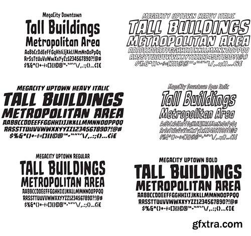 Mega City Font Family - 24 Fonts $79
