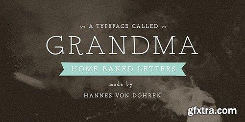 Grandma Font Family - 2Fonts $38
