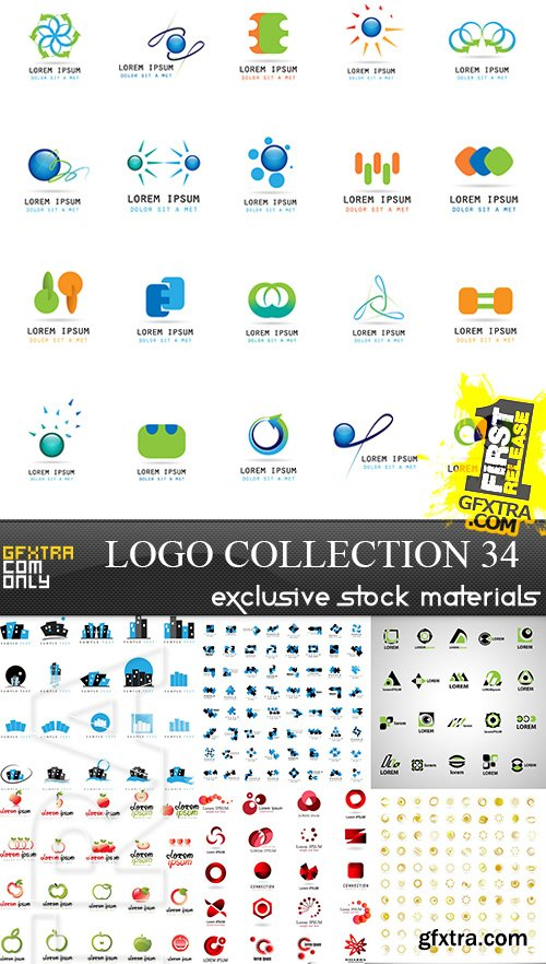 Collection of Logos vol.34, 25xEPS