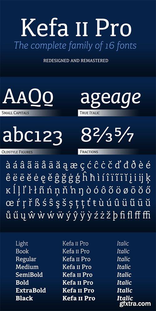 Kefa II Pro Font Family - 16 Font $480