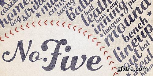 Number Five Font Family - 2 Font $58