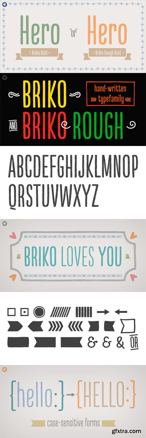 Briko Font Family - 12 Fonts for $90