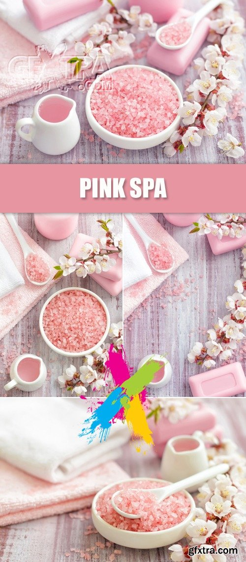 Stock Photo - Pink Spa Backgrounds