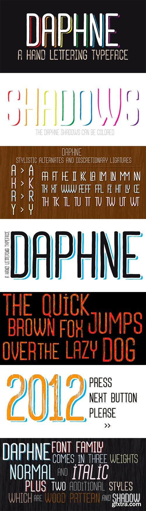 Daphne Font Family - 12 Fonts for $100