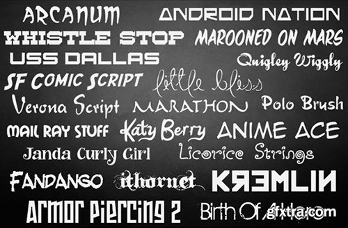 The Ultimate Font Collection 10,000+ Commercial Use Fonts