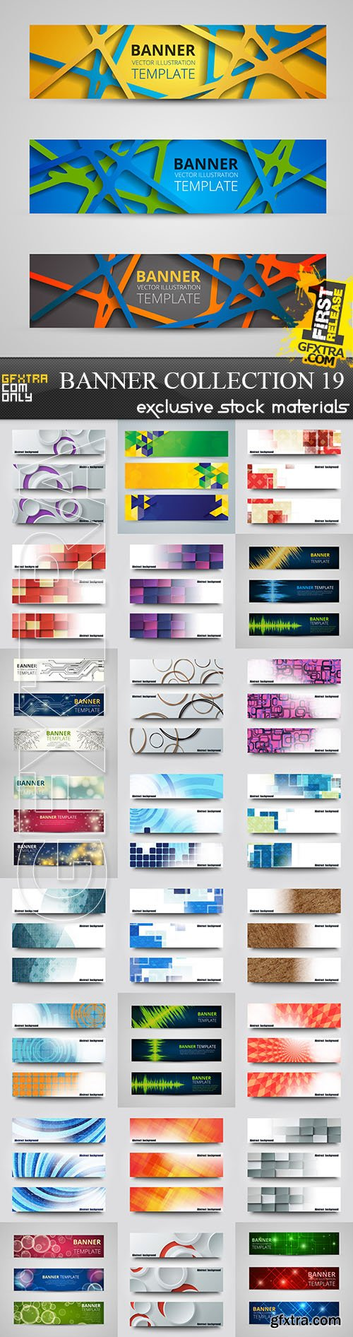 Collection of vector banners vol.19, 25xEPS