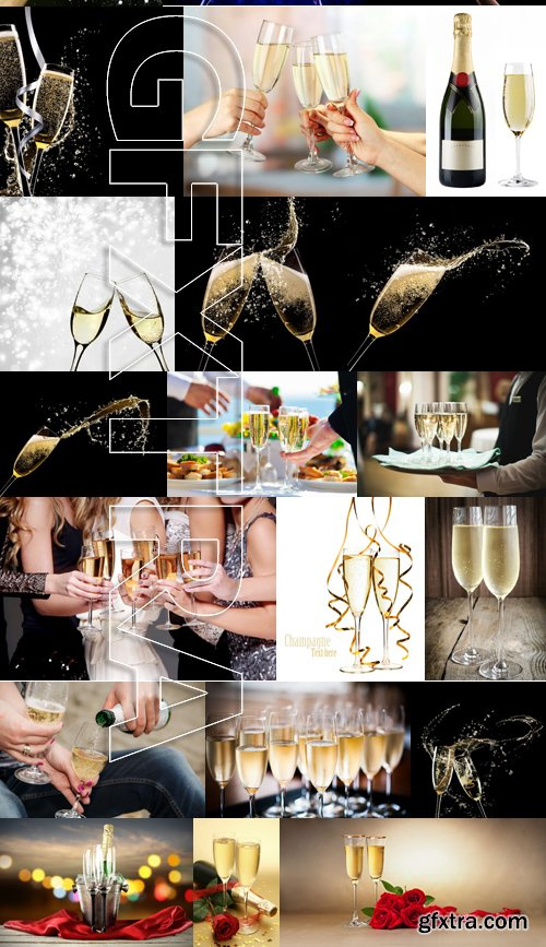 Stock Photos - Champagne, 25xJPG