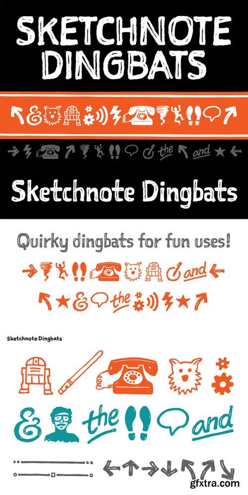 Sketchnote Dingbats Font