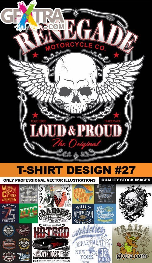 T-Shirt Design #27 - 25xEPS