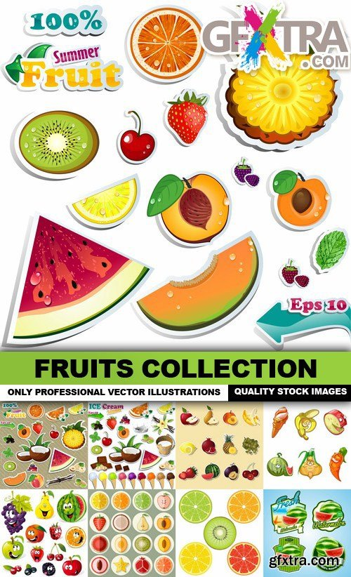 Fruits Collection - 25 Vector