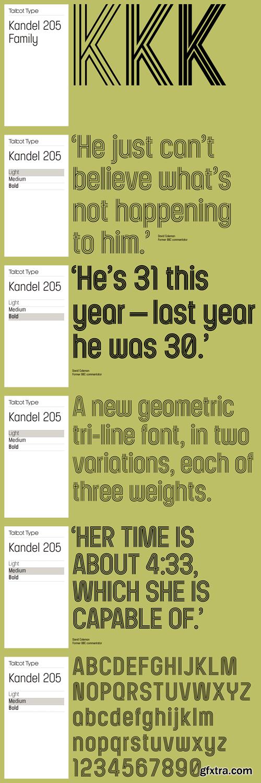 Kandel 205 Font Family - 6 Fonts for $69