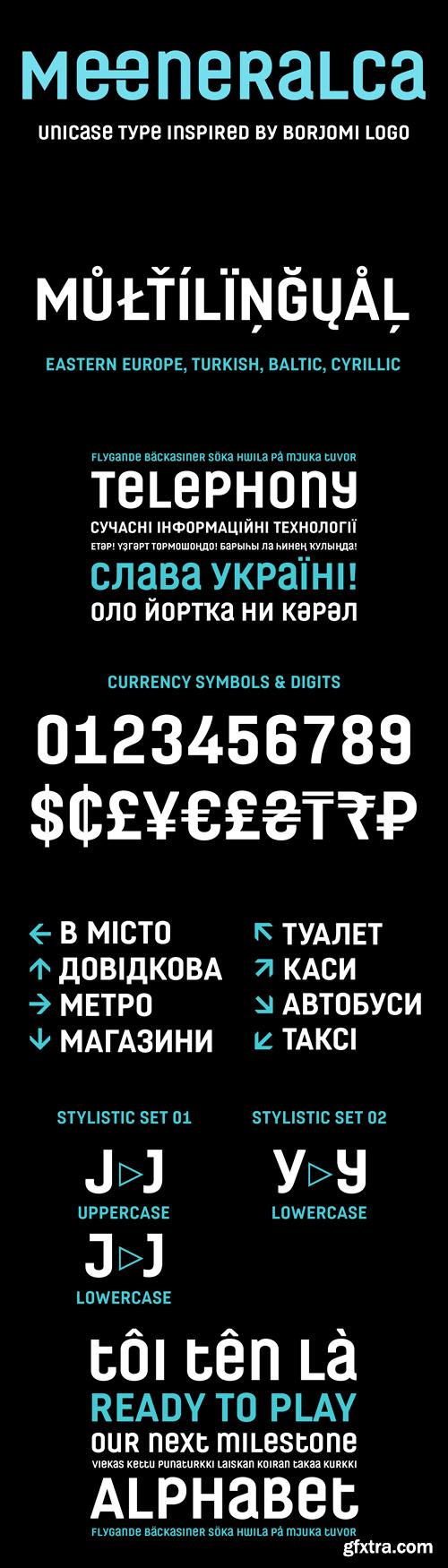 Meeneralca 4F Font for $25