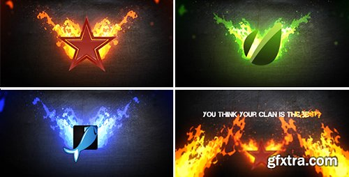 Videohive Fire Logo 4429346 (With Texturex and SFX)