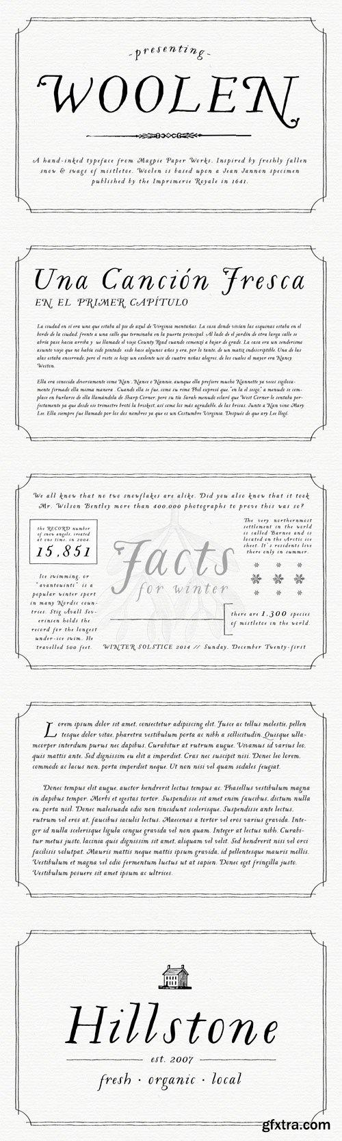 Woolen Font for $32