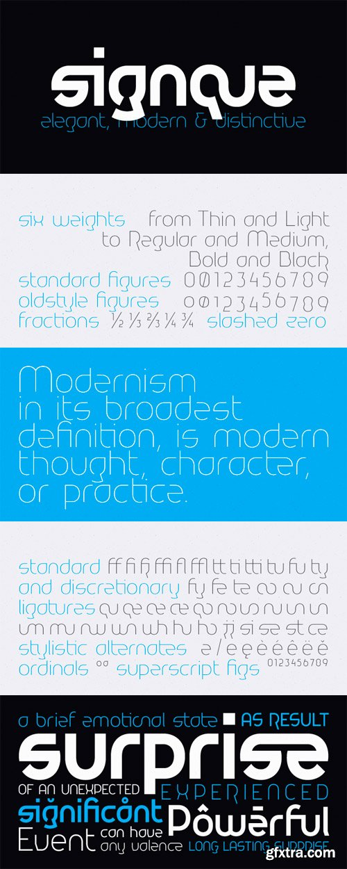 Signque Font Family - 6 Fonts for $160