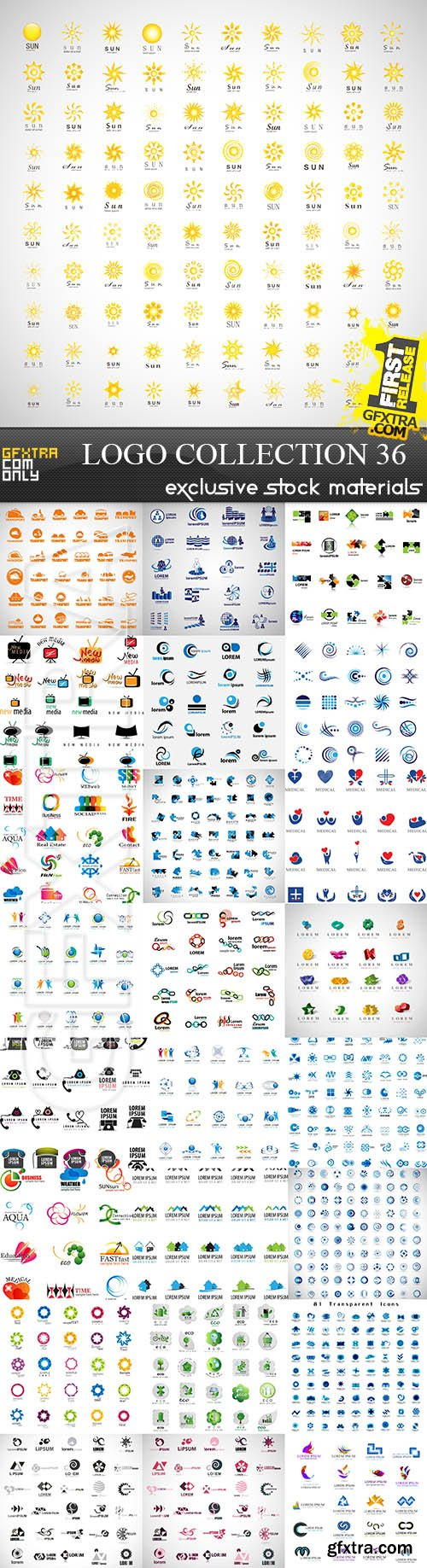 Collection of Logos vol.36, 25xEPS