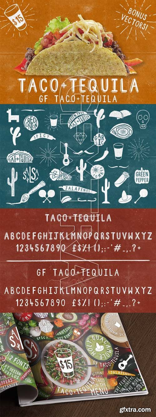 Taco and Tequila - 2 Fonts plus Extras