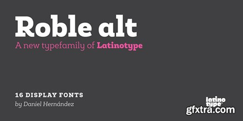 Roble Alt Font Family - 1 Fonts $468