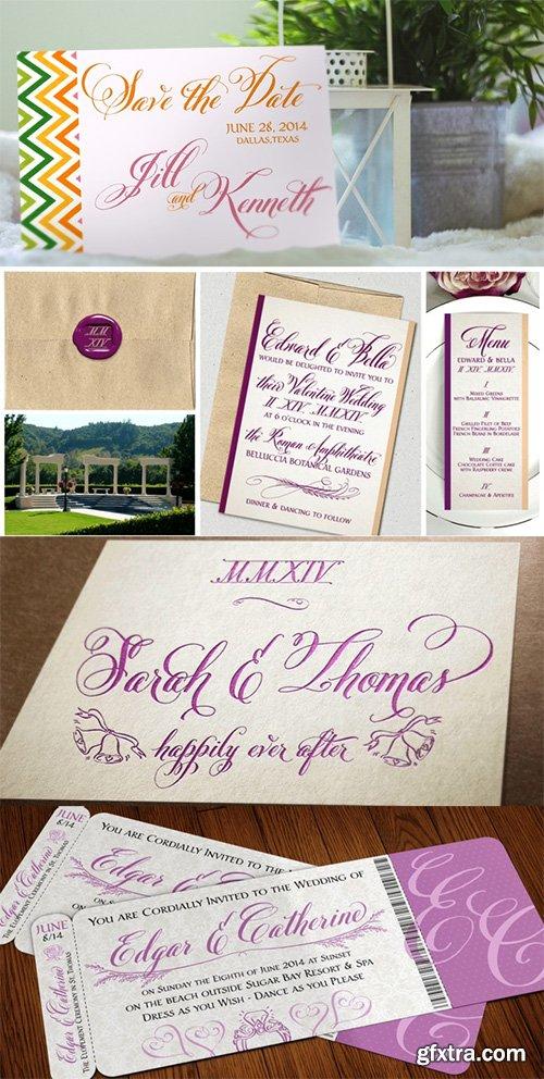 Belluccia Font Family - 9 Fonts $350