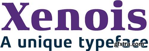Xenois Font Family- 60 Fonts $2100