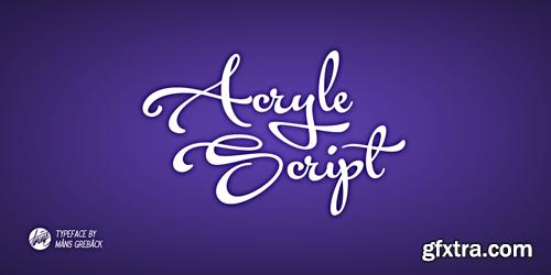 Acryle Script Font for $59