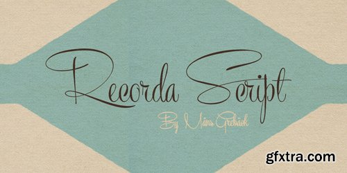 Recorda Script Font for $59
