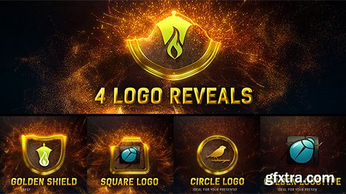 Videohive Magic Gold Particles Logo Reveal 8535794